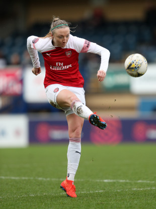 50 not out: Arsenal star Louise Quinn.