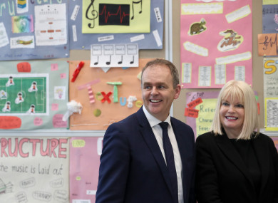 Minister for Education Joe McHugh and Minister of State for Higher Education Mary Mitchell O'Connor.