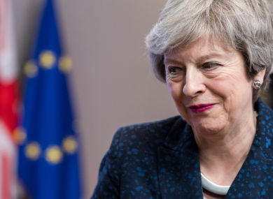 British Prime Minister Theresa May pictured after a meeting with European Council President Donald Tusk at the European Council headquarters in Brussels last Thursday.