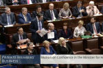 Simon Harris survives motion of no confidence, as Fianna Fáil abstains