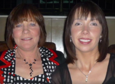 Photo of Clodagh Hawe and her mother Mary .