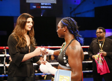 Christina Hammer (L) and Claressa Shields (R) will finally meet for all the belts in April.