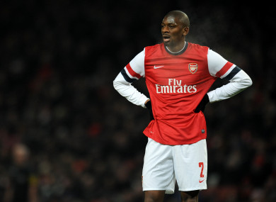 Abou Diaby in action for Arsenal in 2013.
