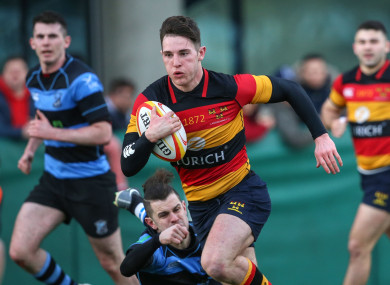 Lansdowne's Tom Roche in action against Shannon on Saturday.