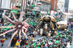 Pictured: Hundreds of thousands take to streets of Ireland for St Patrick's Day parades