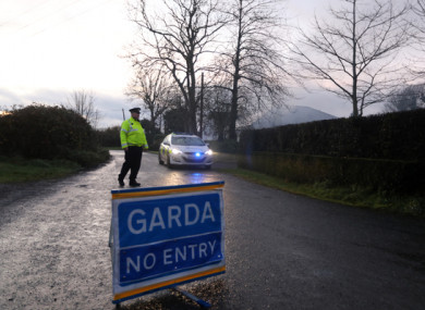 Gardaí at the scene of in December 2017.