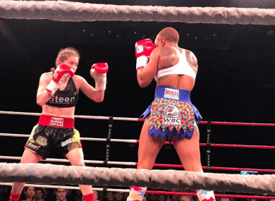 Persoon (L) is due to face Katie Taylor in June provided the Irishwoman can overcome Rose Volante.