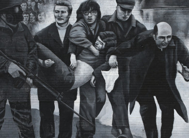 A mural to the events of Bloody Sunday in Derry.