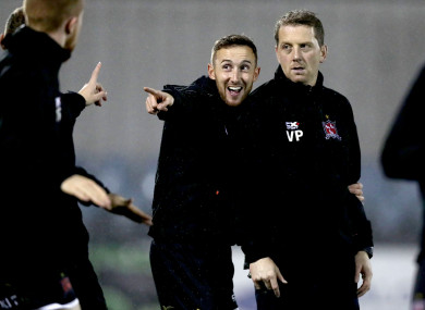 Former Dundalk FC fitness coach Graham Byrne (centre) is now working for Louth GAA.