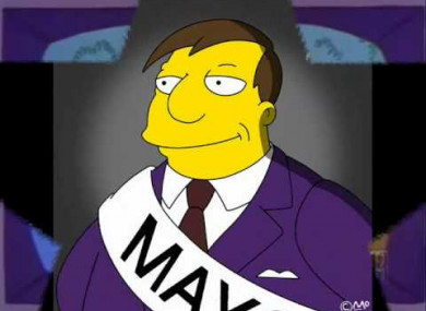 File Photo: Mayor Quimby of the Simpsons