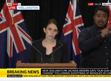 New Zealand Prime Minister says country's gun laws will