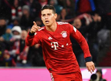 Bayern Munich's James Rodriguez