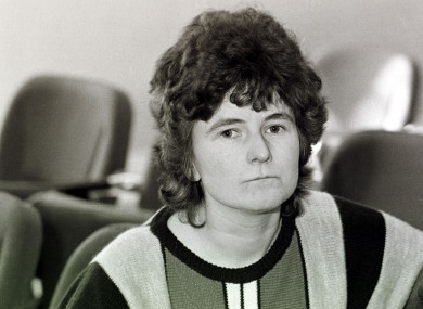 Joanne Hayes at a hearing of the Kerry Babies Tribunal in 1985.