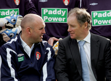 Johhny McDonnell and Brian Kerr pictured in 2008.