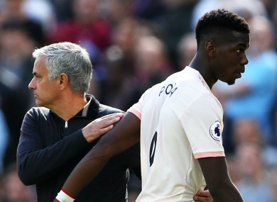 Mourinho and Pogba reportedly fell out as the end neared.