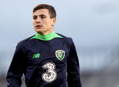 Josh Cullen has earned a number of Ireland caps at underage level.