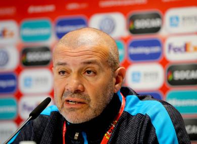 Gibraltar Head Coach, Julio César Ribas.