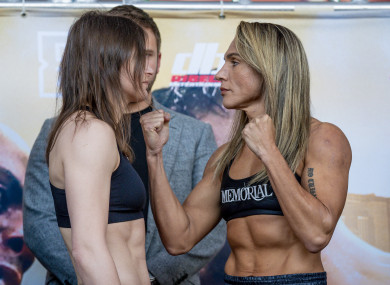 Rose Volante told Katie Taylor that she's in for a fight during the champions' staredown.