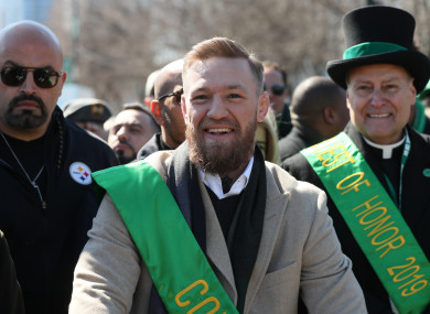 McGregor recently joined the St Patrick's Day parade in Chicago.