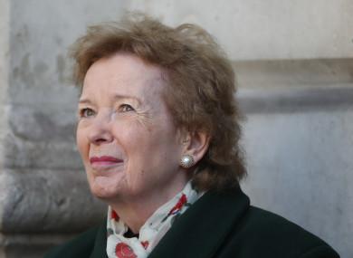 Former Irish President Mary Robinson at Trinity College Dublin last month.
