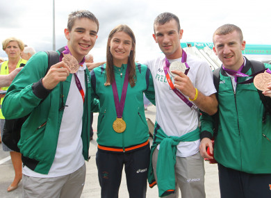 Michael Conlan, Katie Taylor, John Joe Nevin and Paddy Barnes, all Olympic medalists for Ireland in 2012, fight as professionals in the States this Patrick's weekend.