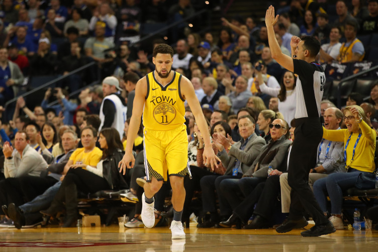 Thompson returns in style as Warriors blitz Nuggets · The42 281315f4b