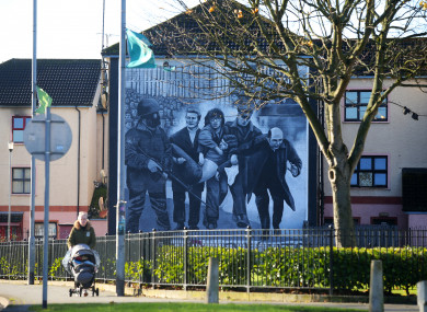 A mural depicting events of Bloody Sunday in Derry