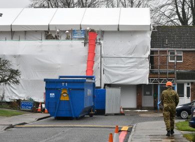 The Skripal house being decontaminated in Salisbury