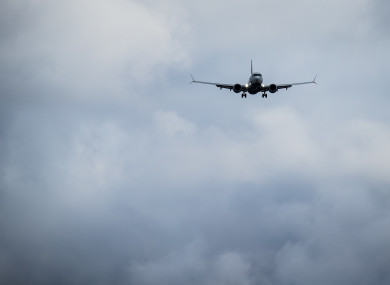 An Air Canada Boeing 737 Max 8 aircraft arriving from Toronto prepares to land at Vancouver International Airport