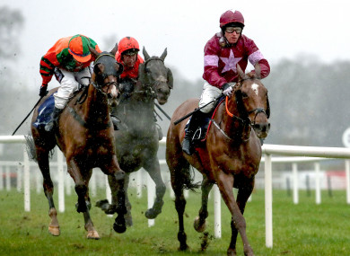 Woods Well ridden by Mark Enright on his way to winning the TRI Equestrian Handicap Chase on Sunday.