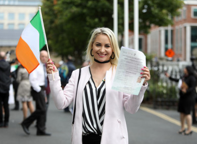 2,400 people from 90 countries will become Ireland's newest