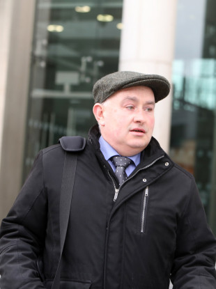 Patrick Quirke leaving the Central Criminal Court
