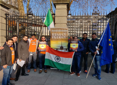 An organisation calling for direct flights held a protest outside Leinster House last week.