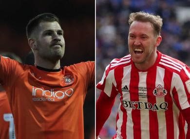 Luton Town's James Collins & Sunderland's Aiden McGeady.