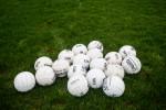 A general view of footballs.