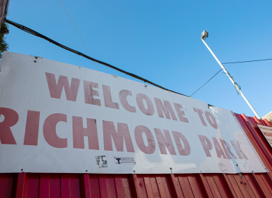 Richmond Park, home of Saint Patrick's Athletic.