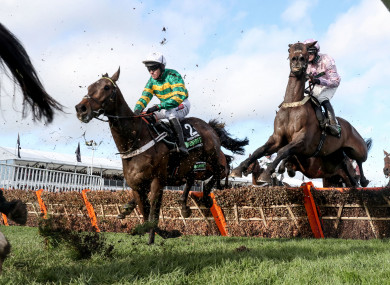 Barry Geraghty on board Buveur D'Air at Cheltenham.