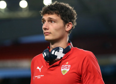 The France defender will join from Stuttgart in July.