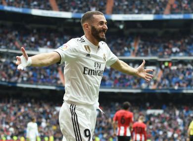 Real Madrid striker Karim Benzema.