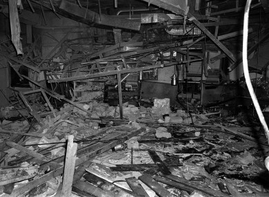 The remnants of the Mulberry Bush pub in Birmingham, one of the two pubs in Birmingham where the bombs exploded.