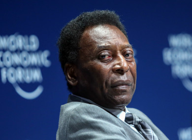 Pele won the World Cup three times with Brazil.