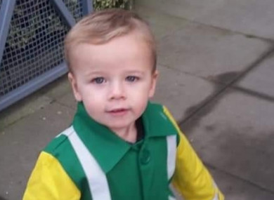 Three-year-old Zac Higgins is in an induced coma in Temple Street hospital in Dublin.