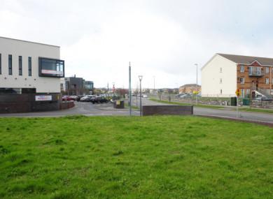 The area of the proposed development next to the Montessori.