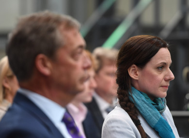 Farage with Annunziata Rees-Mogg.