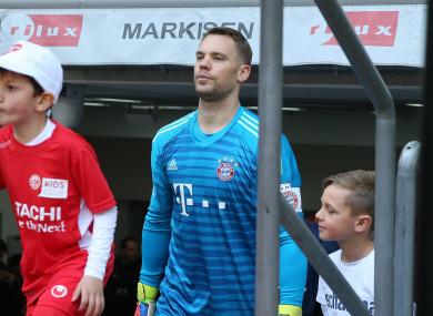 Bayern keeper Neuer.