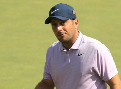 Francesco Molinari on day three at Augusta