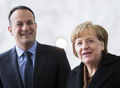 Taoiseach Leo Varadkar and German Chancellor Angela Merkel in Berlin in March.