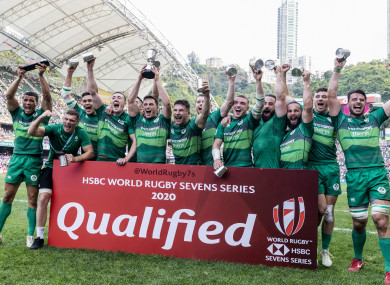 Ireland won the Hong Kong 7s tournament last weekend.