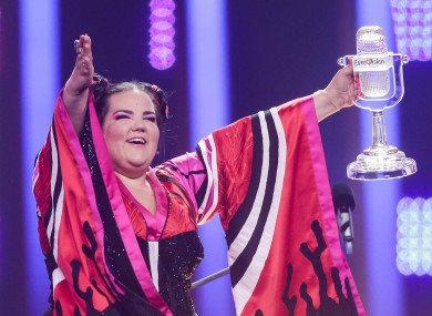 Netta Barzilai after winning last year's contest.