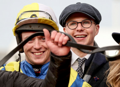 Joseph O'Brien: 'I'd be far more nervous watching a race than when I was riding'.